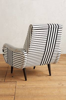 Striped losange chair back
