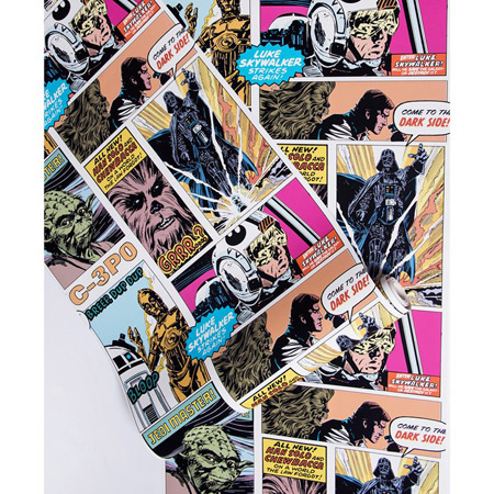 Star Wars Pop Art Collage Wallpaper At Graham And Brown Retro To Go