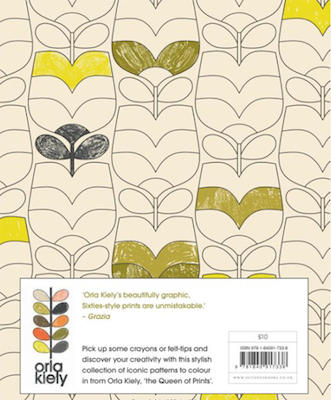 Orla kiely colouring book back