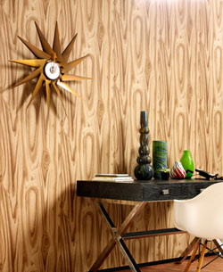 Graham & Brown 70s-style Wood Effect wallpaper  Retro to Go