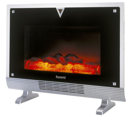 Switched On Set Fireplace Heater Looks Like A Fireplace But Works Like A Portable Heater