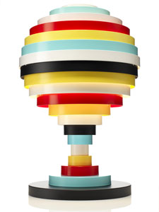 Switched on set fredrik mattson multi coloured pxl table lamp for Suspension multi lampes