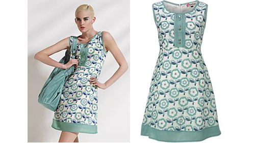 Soo lee 60s style print dress modculture