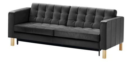 ikea 39 s 50s inspired karlstad sofa adds a bed and storage. Black Bedroom Furniture Sets. Home Design Ideas