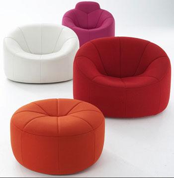 ligne roset re introduces the 1970s pierre paulin pumpkin. Black Bedroom Furniture Sets. Home Design Ideas