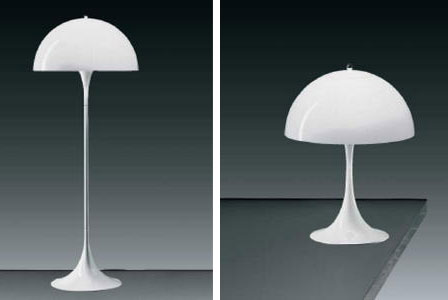 verner panton 1970 panthella table and floor lamp for. Black Bedroom Furniture Sets. Home Design Ideas