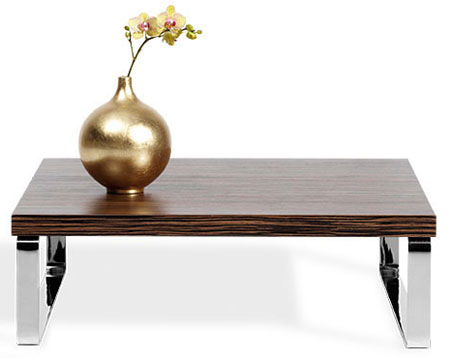 Bo Concept Rosewood And Chrome Coffee Table Retro To Go
