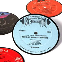 Vintagerecordcoasters